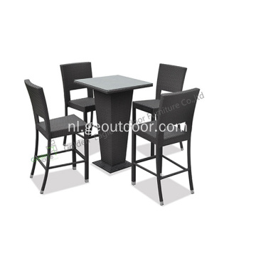 outdoor PE rieten 5-delige bar set